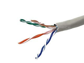 Product Image for  1000FT 24AWG Cat5e 350MHz STP Solid, In-Wall Rated (CM), Bulk Ethernet Bare Copper Cable - Gray