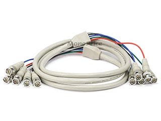 Product Image for 5BNC RGB to 5BNC RGB Video Cable, 6ft