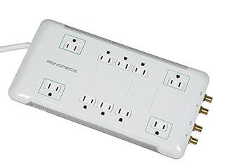 Product Image for 10 Outlet Power Surge Protector w/ Sliding Safety Covers - 2880 Joules