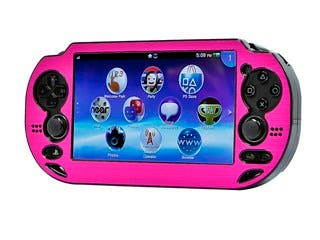 Product Image for PlayStation Vita Brushed Aluminum Clamshell Protective Case - Pink