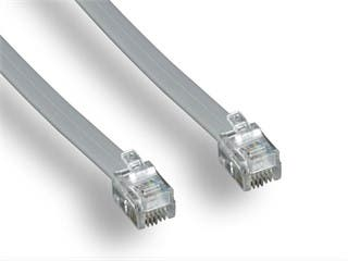 Product Image for Phone cable, RJ12 (6P6C), Straight -  7ft for Data
