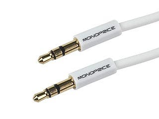 Product Image for 6ft Coiled 3.5mm Male To 3.5mm Male Stereo Audio Cable - White
