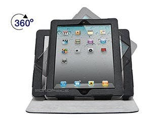 Product Image for 360° Swivel Stand and Cover for all 9.7-inch iPad® - Black with Gray