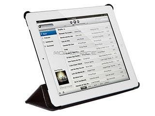 Product Image for Synthetic Leather Stand/Cover with Magnetic Latch for iPad® 2, iPad 3, iPad 4 - Black