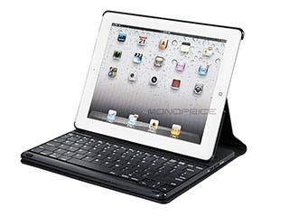Product Image for Keyboard Folio w/ Mechanical Keys for iPad® 2, iPad 3, iPad 4 - Black with Black Keys