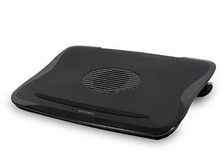 Product Image for Cushioned Laptop Cooler w/ Built-in 80mm Fan - Black