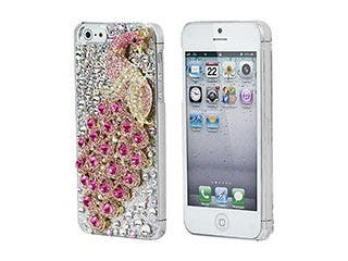Product Image for Pink Peacock Crystal 3D Diamante Cover for iPhone® 5/5s/SE
