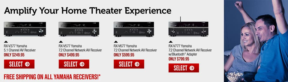Home theatre receiver hook up