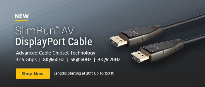 SlimRun AV DisplayPort Cable