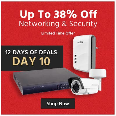 Up to 38% off networking & security, limited time offer, shop now