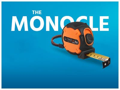 The monocle, One Day. One Deal, Measuring Tape Tacklife TM-B02 | $5.99 + Free Standard US Shipping, shop now