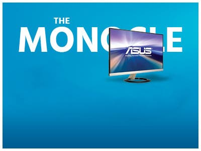 The monocle, One Day. One Deal, ASUS VZ279H Frameless 27, Ultra Slim | $159.99 + Free Standard US Shipping, shop now