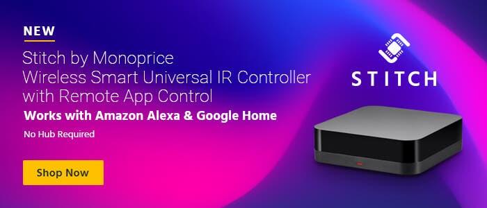 NEW: STITCH Wireless Smart Universal IR Controller w/ Remote