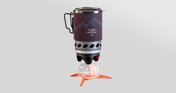1.0L Cooking System Enjoy fast, efficient cooking and heating while on any adventure!