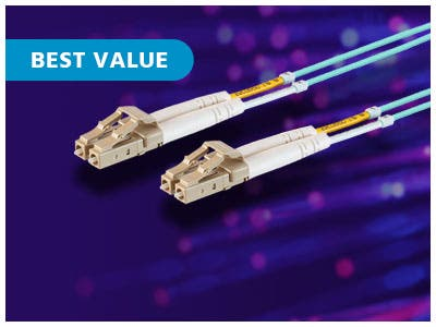 MP Fiber Optic Cables, High Bandwidth | 10GB Transmissions Up To 400m | Multiple Lengths