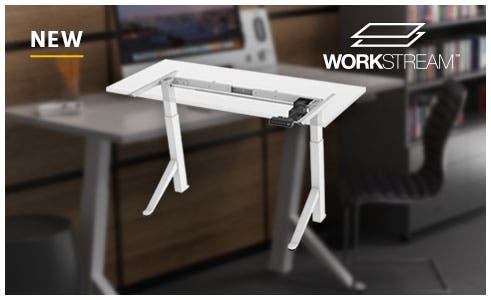 Workstream by Monoprice Sit-Stand Desk, Easy to adjust, fast, quiet, and powerful. shop now