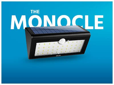 The Monocle. One Day. One Deal. One Incredibly Low Price. Albrillo Outdoor 38 LED Solar Motion Sensor Light | $14.99 + Free Standard US Shipping, Ends 06/16/19 While Supplies Last