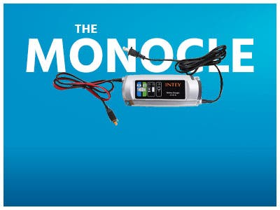 The Monocle. One Day. One Deal. One Incredibly Low Price. INTEY Portable Car Battery Charger 5A 6V/12V $19.99 + Free Standard US Shipping, Ends 06/17/19 While Supplies Last