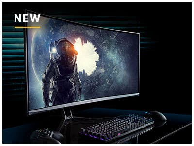 MP 35in Gaming Monitor! Zero-G Curved Gaming Monitor! Sleek, Ultra-wide, & Curved design.