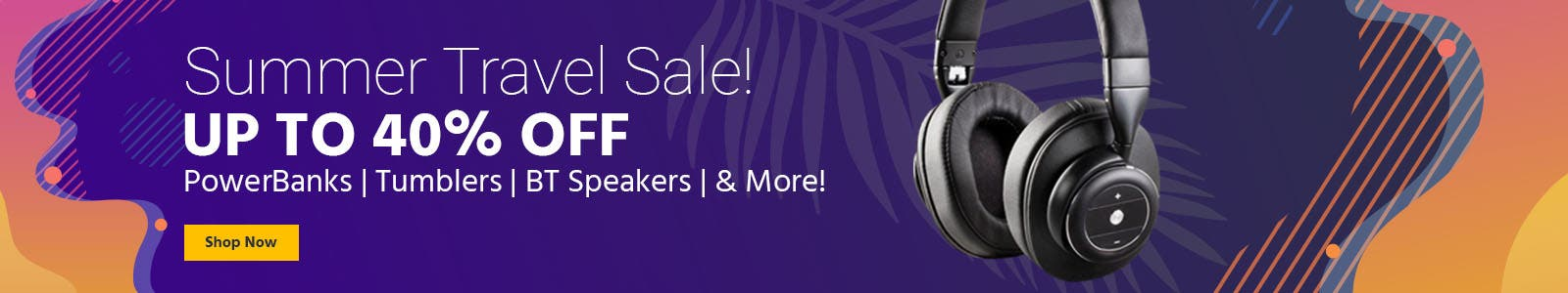 Summer Travel Sale! up to 40% off, powerbanks, tumblers. bt speakers, and more