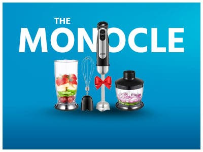 The Monocle. One Day. One Deal. One Incredibly Low Price. Aicok 4-in-1 Hand Blender, Stainless Steel | $24.99 + Free Standard US Shipping, Ends 06/18/19 While Supplies Last
