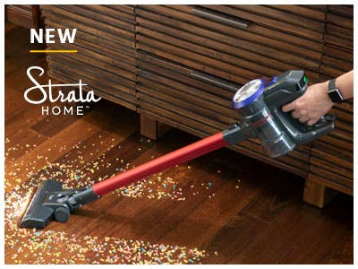 Strata Home Cordless stick vacuum, effortlessly clean your home with this all-in-one vacuum. Shop Now