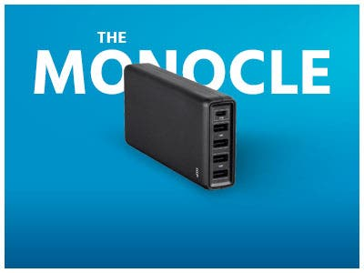 The Monocle. One Day. One Deal. One Incredibly Low Price. Monoprice Obsidian Speed Plus USB Charger 5 Port 87w USB-C and 24w USB-A Ports $39.99 + Free Standard US Shipping Ends 6/26/19 While Supplies