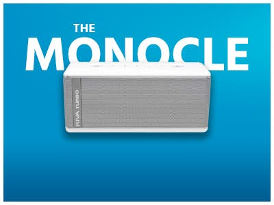 The Monocle. One Day. One Deal. One Incredibly Low Price. RIVA TURBO RTX01B Bluetooth Speaker (Refurbished) | $79.99 + Free Standard US Shipping, Ends 07/16/19 or  While Supplies Last
