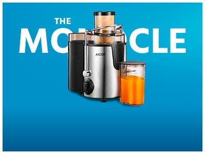 The Monocle. One Day. One Deal. One Incredibly Low Price. Aicok Juice Extractor with Wide Mouth (Refurbished) | $29.99 + Free Standard US Shipping, Ends 07/23/19 or  While Supplies Last