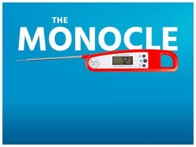 The Monocle. One Weekend. One Deal. One Incredibly Low Price. Digital Meat Thermometer Electric Food Probe Thermometer for Grilling, Baking, Cooking and BBQ Red $7.99 + Free Standard US Shipping Ends