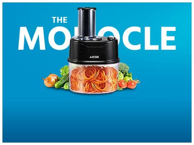 The Monocle. One Day. One Deal. One Incredibly Low Price. Aicok Electric Spiralizer Spiral Slicer, 1200 Watt | $29.99 + Free Standard US Shipping, While Supplies Last