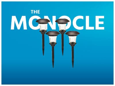 The Monocle. One Weekend. One Deal. One Incredibly Low Price. Solar Path Lights, Set of 4, Bronze | $24.99 + Free Standard US Shipping, While Supplies Last