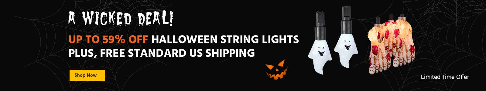 A Wicked Deal, Up to 69% off Halloween string lights plus, free standard us shipping. shop now