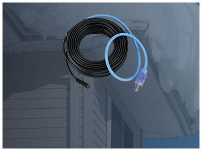 Conquer Winter! Roof & Gutter De-Icing Cable Kit, 150 Watts | 30ft Black | Clips & Spacers Included