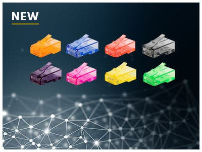 MP RJ45 Connectors, Now Available with a Wide Range of Colors!
