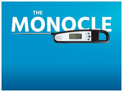 The Monocle. One Day. One Deal. One Incredibly Low Price. Digital Meat Thermometer - Black | $7.99 + Free Standard US Shipping, Ends 10/21/19 or While Supplies Last