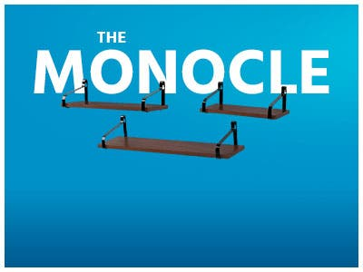 The Monocle. One Day. One Deal. One Incredibly Low Price. Set of 3 Rustic Shelf Wood Panel Iron Rack | $29.99 + Free Standard US Shipping, Ends 10/22/19 or While Supplies Last
