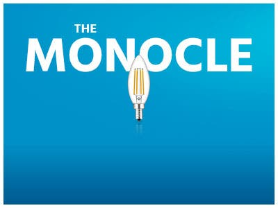 The monocle. One Weekend. One Deal. LED Candelabra Bulb, Warm White 2700K 330LM 6 pack $14.99 + Free Standard US Shipping, ends 11/17/19, while supplies last