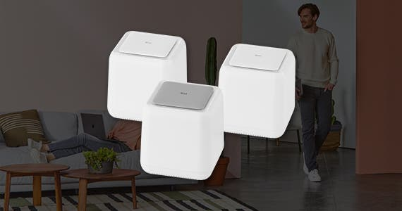 Whole Home Mesh WiFi, Whole-Home Mesh Wi-Fi System w/ Touch Link Technology, 3-Unit Pack. Shop Now