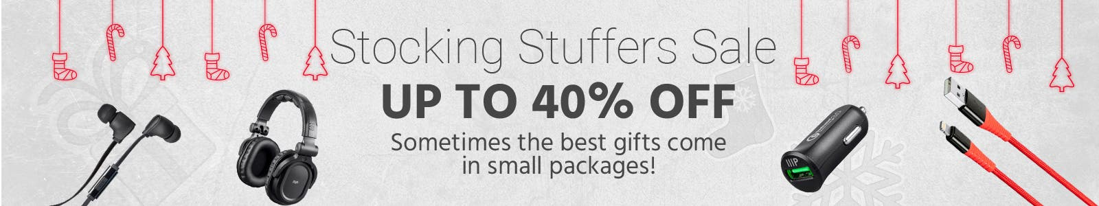 Stocking Stuffers Sale, up to 40% off, sometimes the best gifts come in small packages
