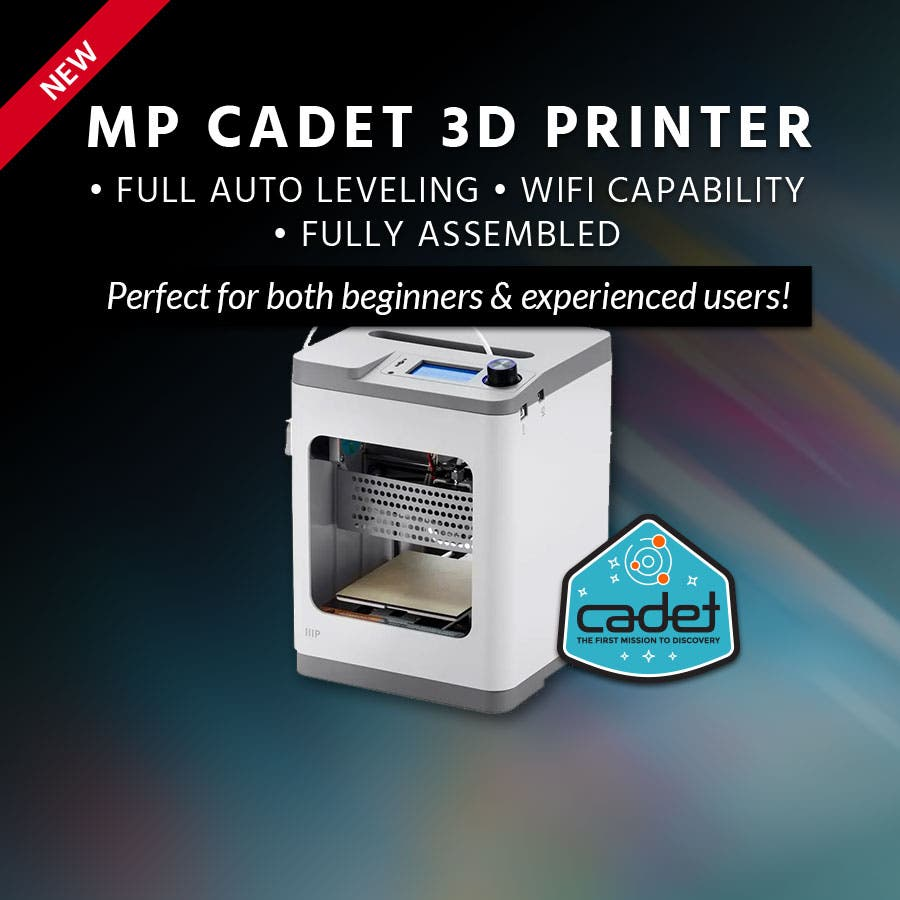 New MP Cadet 3D Printer Full Auto Leveling | WiFi Capability |  Fully Assembled  Perfect for both beginners & experienced users!  Shop Now