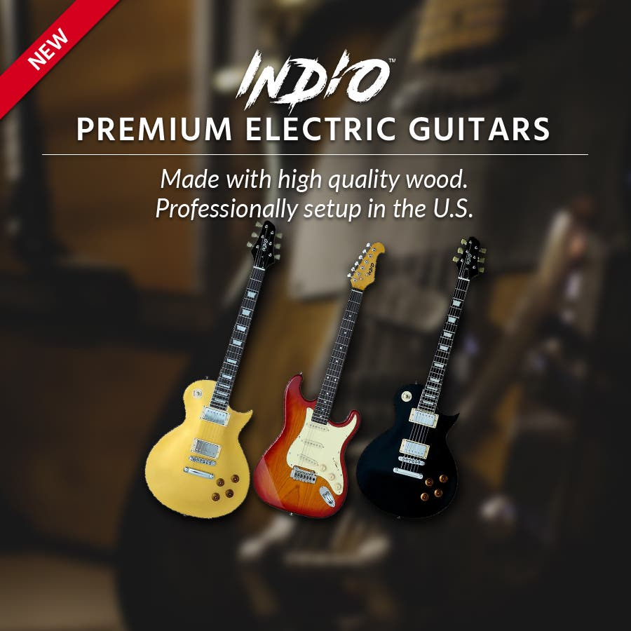 New Indio Guitars  Premium Electric Guitars  with either Mahogany body or Maple neck Professionally setup in the U.S & comes with a gig bag! Shop Now