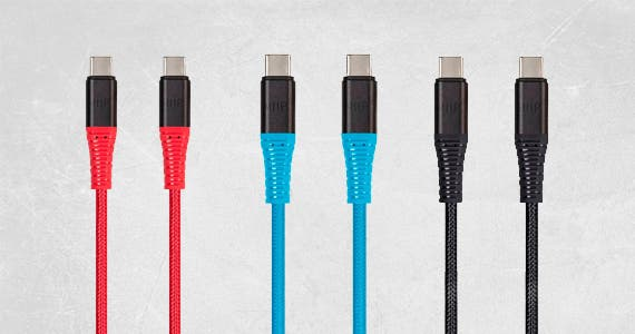 AtlasFlex USB 2.0 Type-C Durable, Flexible, & Dependable | Lifetime Warranty | Multiple lengths & colors