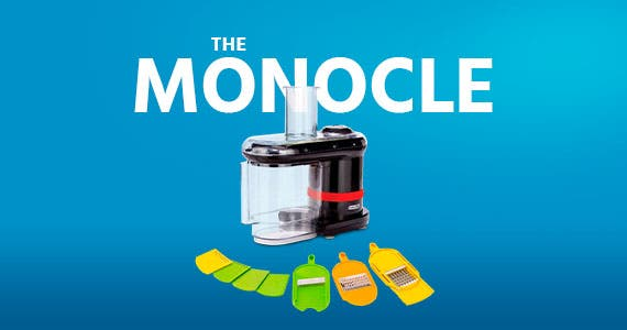 The Monocle. One Weekend. One Deal. Dash Electric Mandoline food slicer chopper | $29.99 + Free Standard US Shipping