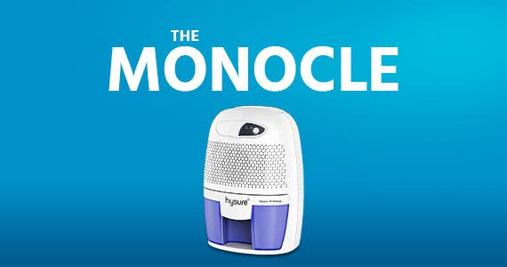 The Monocle. One Day. One Deal. Hysure Portable Mini Dehumidifier - 2201 Cubic Feet, Electric, White $24.99 + Free Standard US Shipping Ends 03/31/20 While Supplies Last