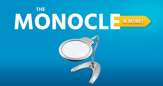 The Monocle. & More One Weekend. One Deal. Hands Free Magnifying Glass with LED Light, 2X 5X LED Magnifying Glass Lamp for Reading Desk Lamp for Crafts Jewelry Soldering Sewing $17.99 + Free Standard