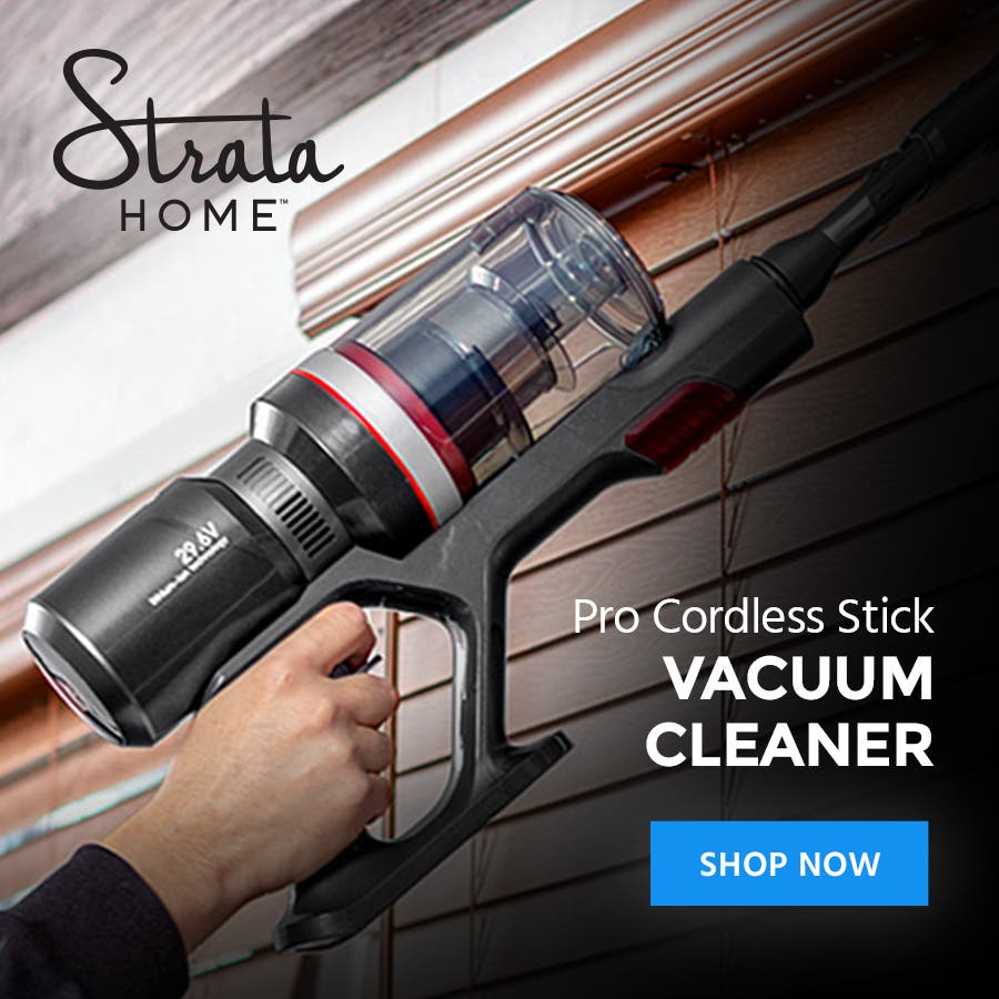 Pro Cordless Stick Vacuum CleanerPowerful with a long run time, effortlessly cleans most floor typesShop Now