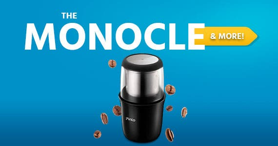 The Monocle. & More One Day. One Deal. Electric Coffee Grinder Portable Coffee Grinder w/ Stainless Steel Blade Removable Coffee Powder Bowl Up to 12 Cups $19.99 + Free Standard US Shipping Ends 05/2