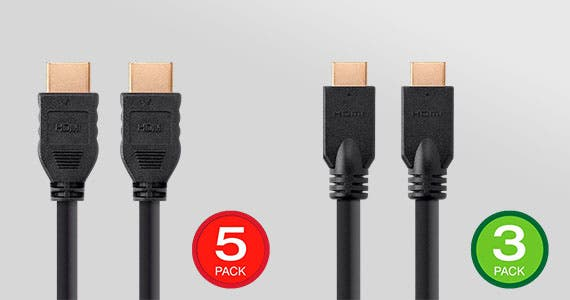 20% off  Commercial Series High Speed HDMI Cable 3 or 5 Packs 4K@60Hz or 1080p@60Hz | CL2 Rated | 3ft - 50ft | Backed by a Lifetime Warranty  Shop Now