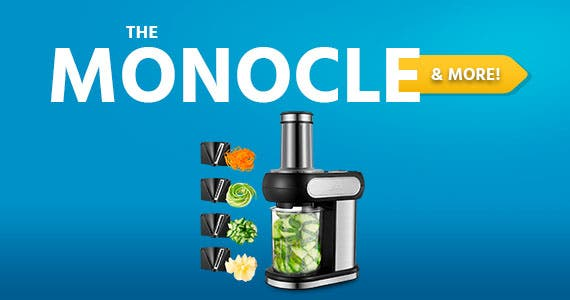 The Monocle. & More One Day. One Deal. AICOK Electric Vegetable Cutter Body Stainless Steel Accessories 4 Cuts $24.99 + Free Standard US Shipping Ends 07/02/20 While Supplies Last